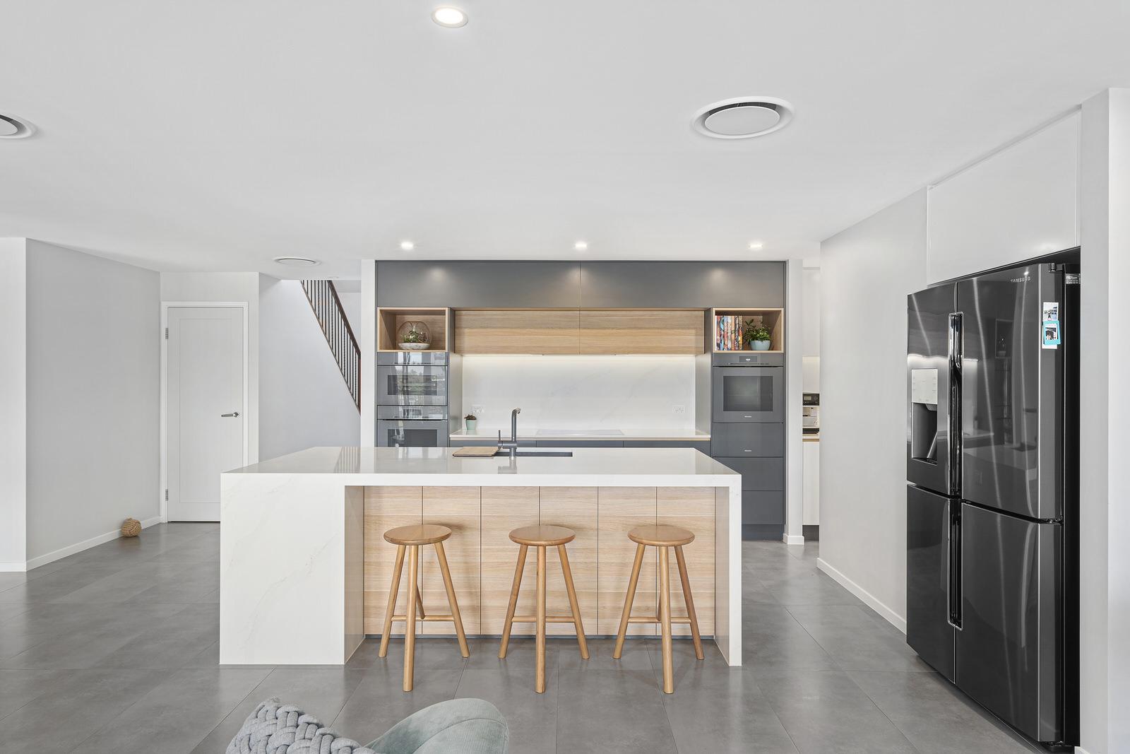 breakfast bar in kitchen renovation