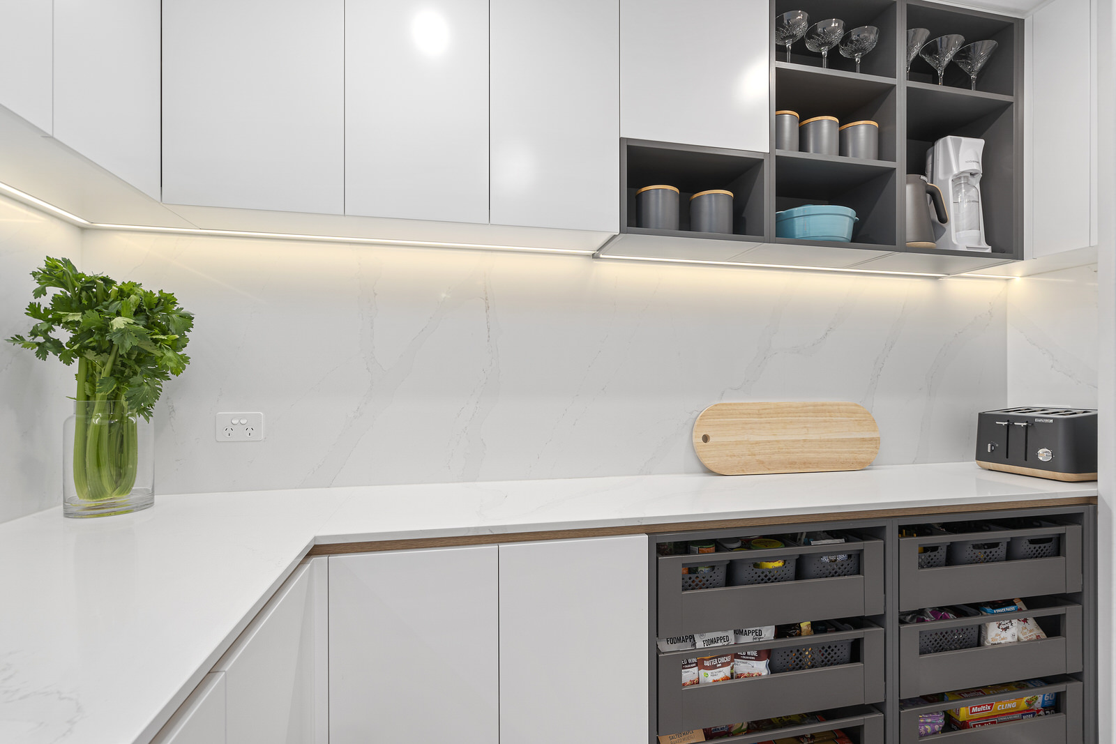 close up shot of our kitchen renovation cabinetry work