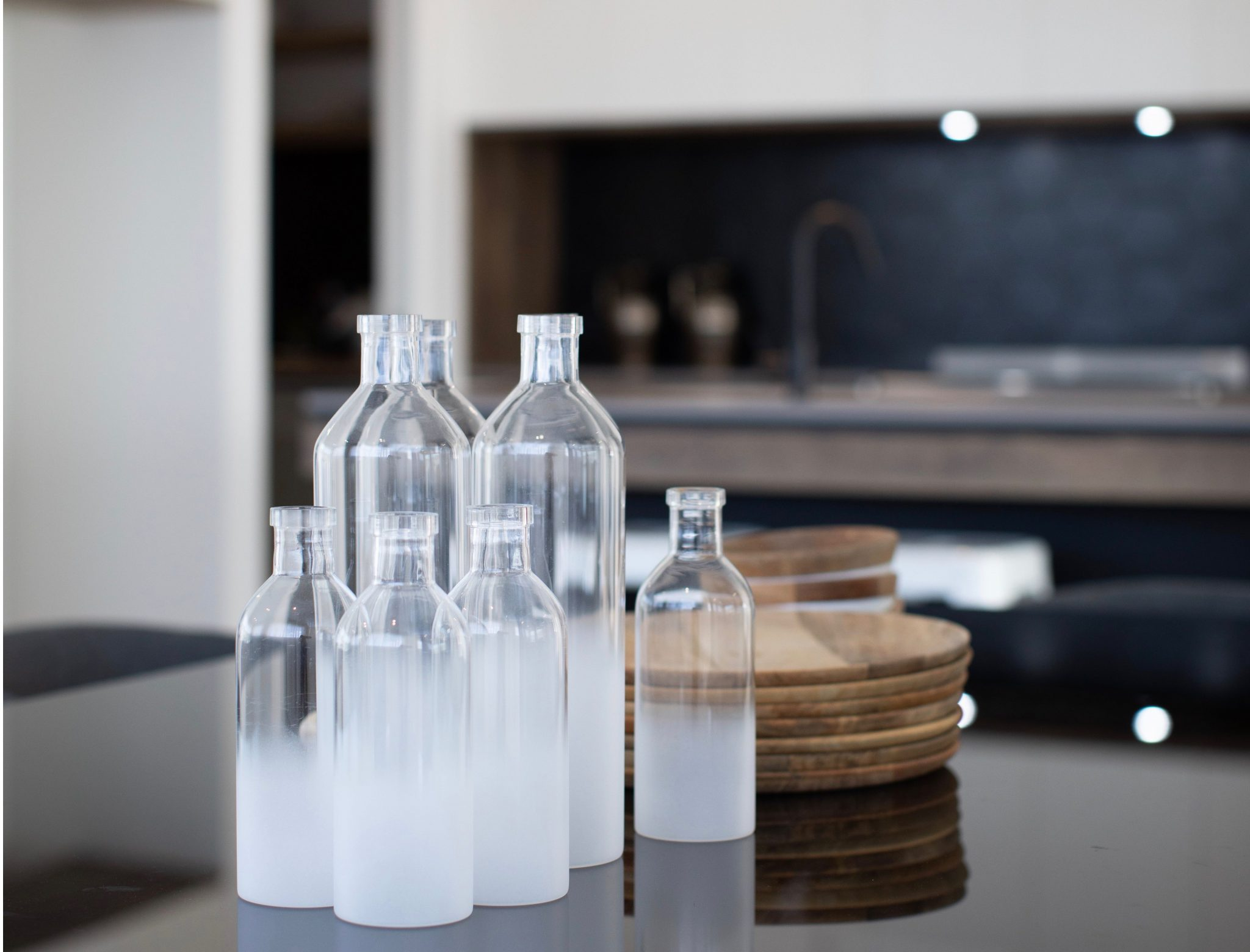 contemporary kitchen renovation bottles crop