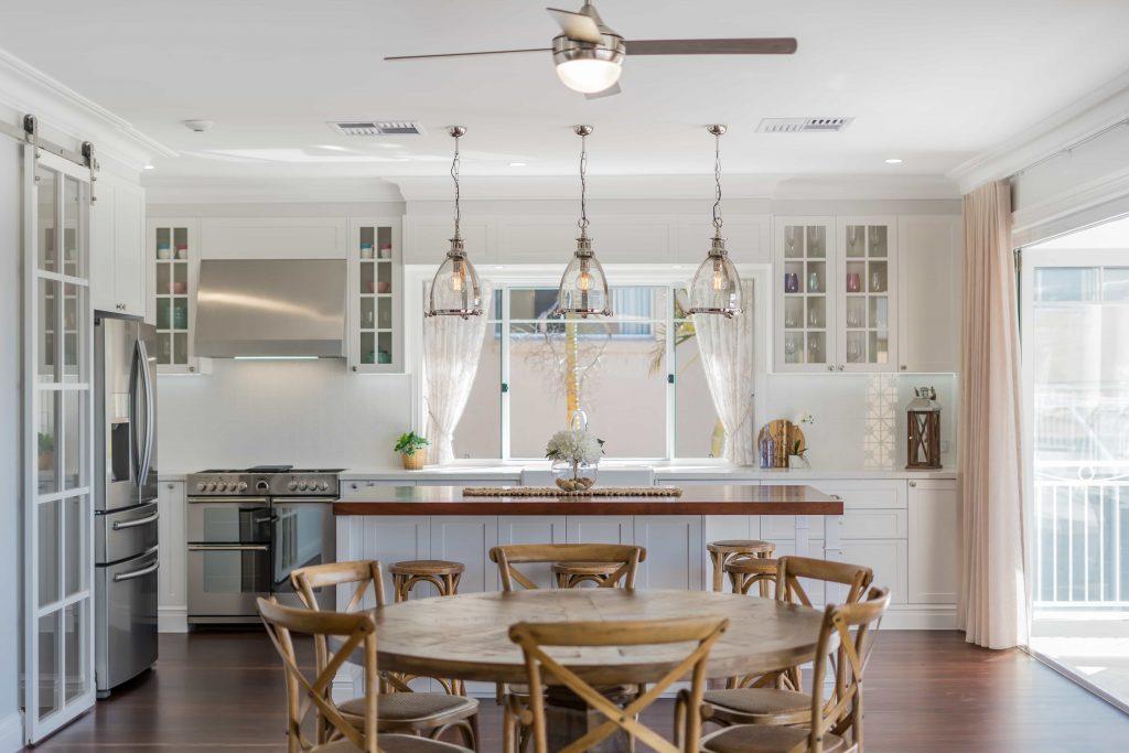 Crisp White Kitchen renovation