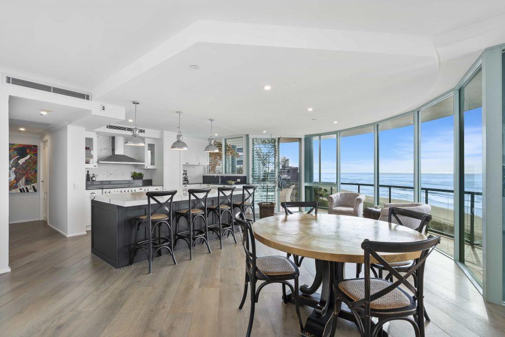 open plain kitchen renovation