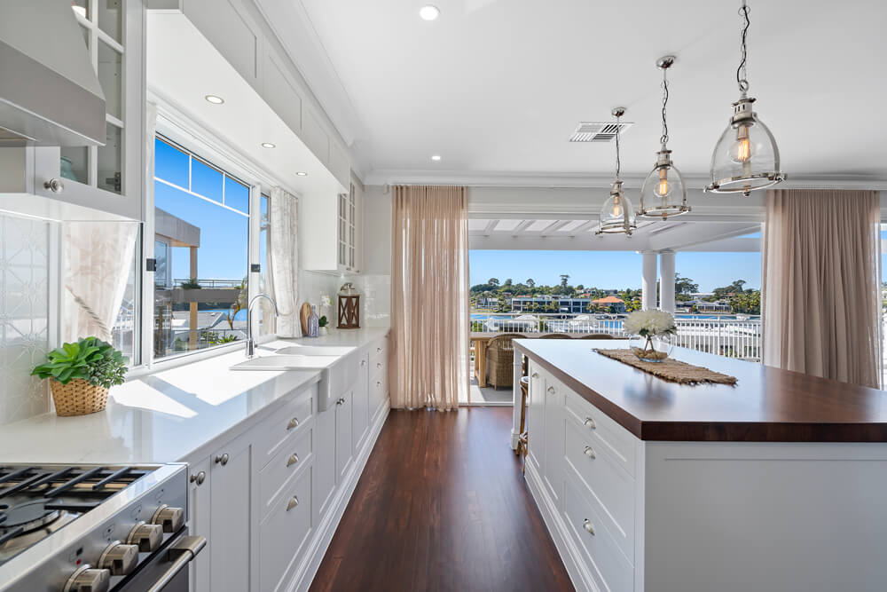 kitchen renovation with a view