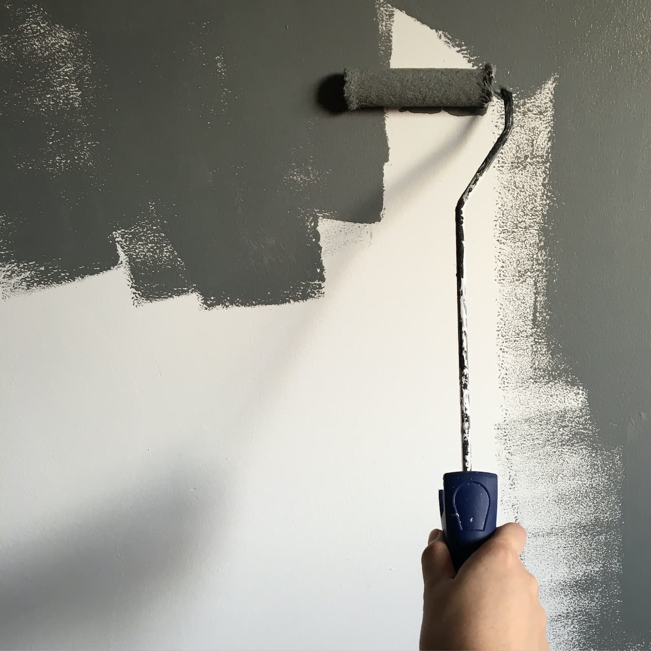 hand roller painting new kitchen renovation