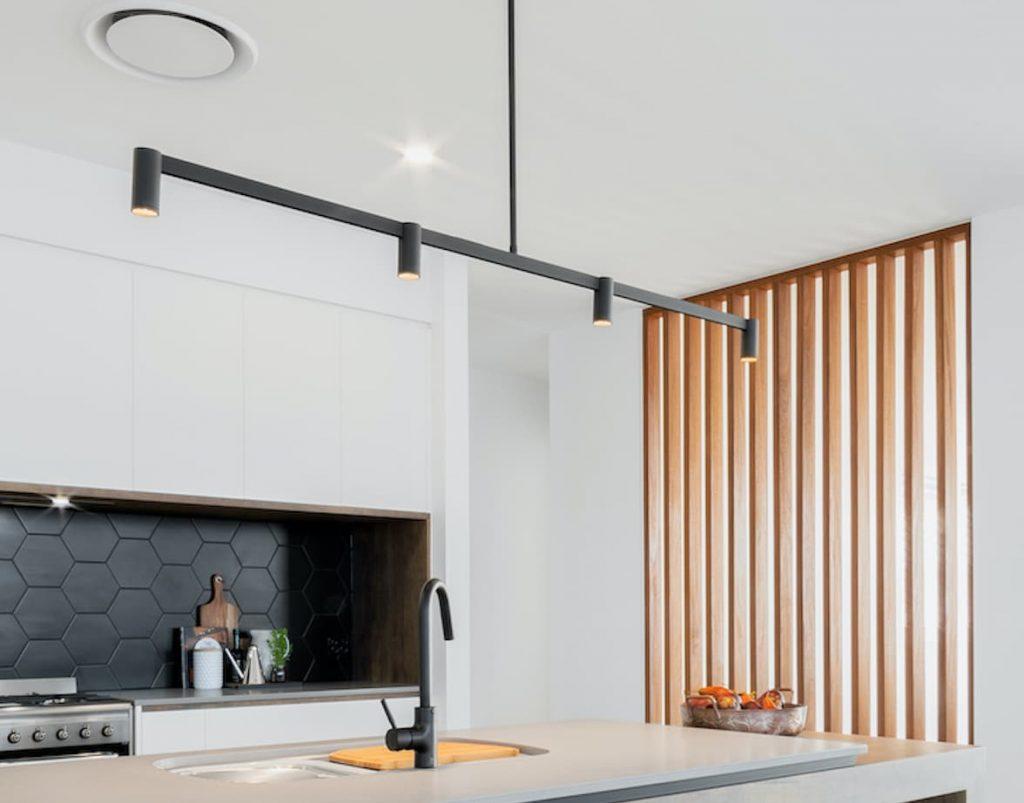 new lighting in modern kitchen renovation